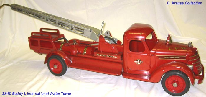 Speak vintage toy fire trucks