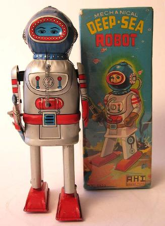 Battery operated tin toy robot appraisals, japan tin toy rocket ship, radicon,  alps tin toys for sale, masudaya radicon robot, alps robots, vintage alps space toys, rare japan tin toy robots for sale, tin toy robots dispaly,  buddy l trains for sale, rare japan tin toys for sale, Japan tin robots price guide friction cars friction robots friction toy cars antique toy appraisals vintage space toys