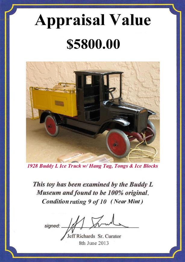Buddy L Toys Price Guide ~ Buddy L Museum Vintage Toy Values