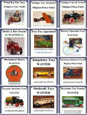 Toy Appraisal, Free Vintage Toy Appraisal free antique toy appraisals buddy l trains cor cor toys kingsbury cars buddy l trucks space toys, german tin toys wind up toys ebay appraisals, vintage keystone toy trucks for sale  Antique toys price guide, buddy l trucks