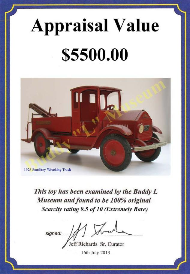 America's largest buyer of sturdtioy trucks, facebook sturditoy trucks, rare buddy l sturditoy trucks for sale,  dusty sturditoy dump truck, naby blue sturditoy police truck, vintage sturditoy u s mail trucks,  Online sturditoy appraisals, Buddy L Museum paying more for sturditoy trucks, sturditoy books, sturditoy photographs and all related sturdtioy company material, sturditoy catalog for sale, sturditoy collectors